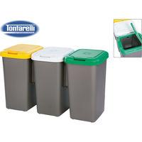 Set 3 Papeleras De Reciclaje 77x32x47,5 Cm