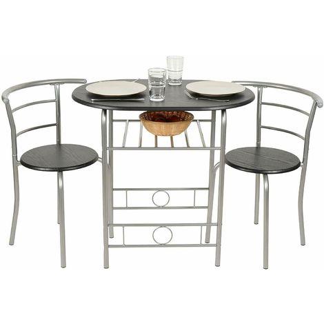 Tavolo Cucina Faggio.Set 3 Pezzi Tavolo Con 2 Sgabelli In Alluminio E Mdf Per Cucina O Da Bar Colore Faggio