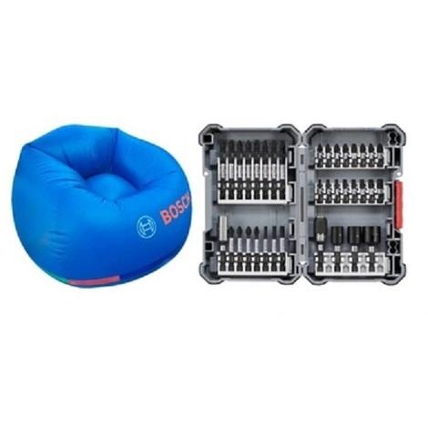 Set 36 unidades IMPACT (puntas, portapuntas, vasos,...) BOSCH 2607017597 + GRATIS Sillón hinchable