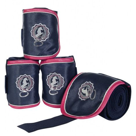 Set 4 Fasce da riposo per cavalli modello Exclusive Autumn HKM Classic