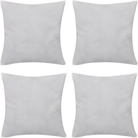 Set 4 Federe in cotone bianche 40 x 40 cm