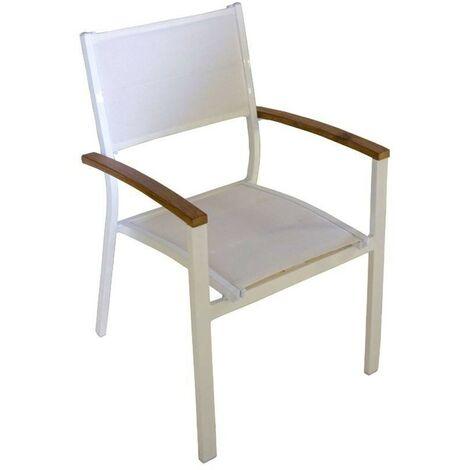 Sedie Legno Da Esterno.Set 4 Sedie Da Esterno Alluminio E Legno Di Teak