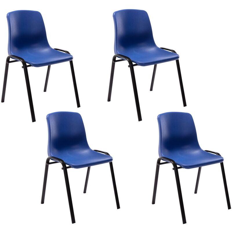 Set 4 sedie impilabili Nowra in polipropilene