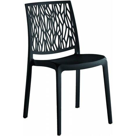 Sedie In Resina Colorate.Set 4 Sedie In Resina Monoblocco London Twist By Flow Antracite