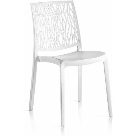 Sedie In Resina Colorate.Set 4 Sedie In Resina Monoblocco London Twist By Flow Bianco
