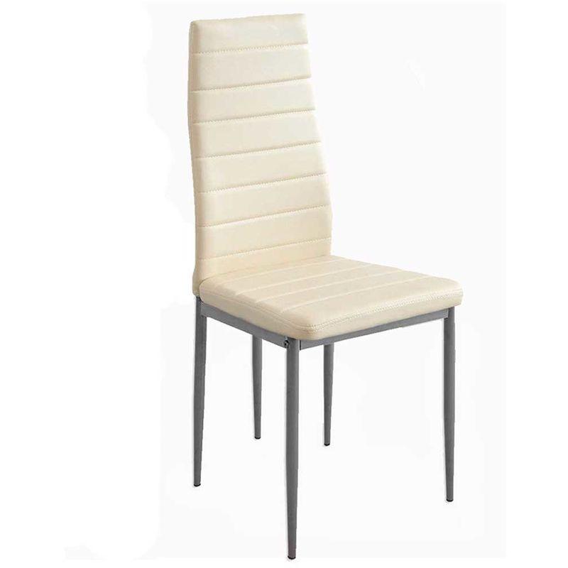 Sedie Moderne In Ecopelle.Set 4 Sedie Moderne Sala Pranzo Salotto Cucina Seduta Imbottita Ecopelle Crema