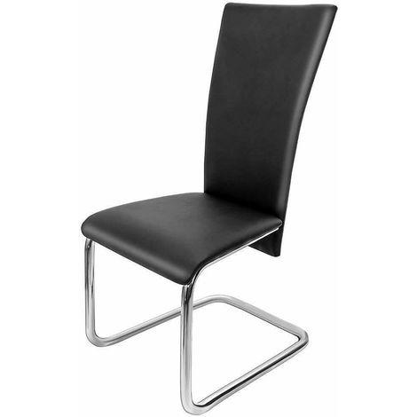 Set 4 sedie sala da pranzo sedia in pelle artificiale 2 colorazioni ...
