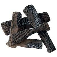 Set 5 Ciocchi Tronchetti Decorativi In Ceramica Per Camini A Bioetanolo Karlsen