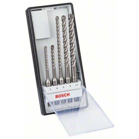 Set 5 forets béton SDS-Plus-7X BOSCH 6/6/8/8/10mm- 2608576200