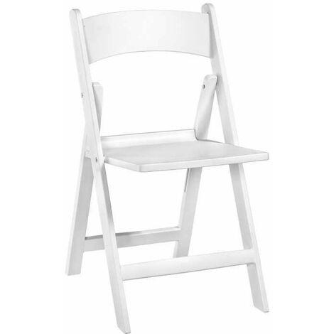 Sedie In Resina Colorate.Set 6 Sedie Pieghevoli In Resina Alex Bianco
