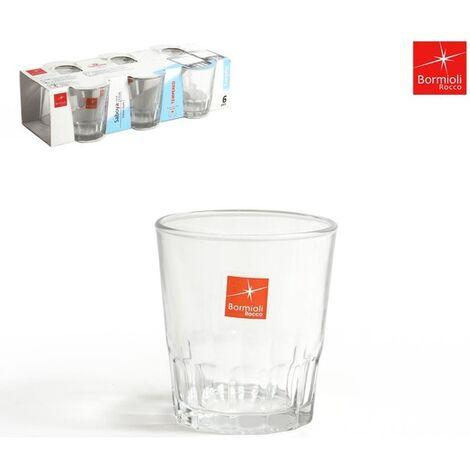 Set 6 Vasos Agua 110cc Saboya