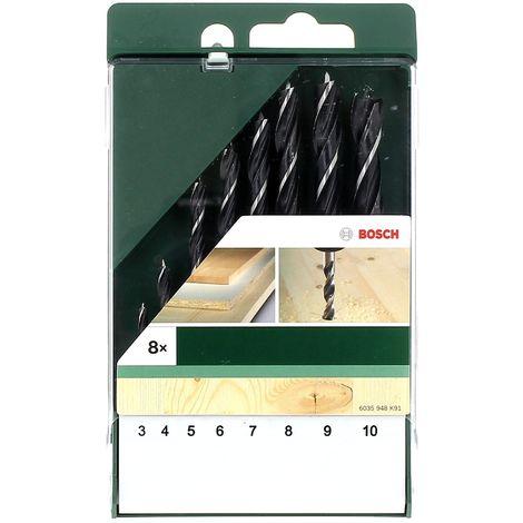 Set 8 meches a bois 3 a 10 mm pour Perceuse Bosch, Visseuse Bosch, Perforateur Bosch, Perceuse Divers, Perforateur Divers, Perceuse Dewalt, Perceuse S
