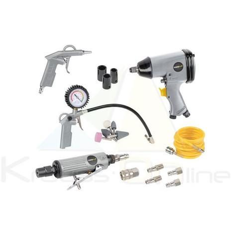 Herramientas y accesorios de un compresor