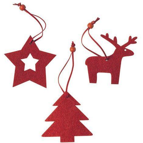 Set Adornos de Navidad (3 pcs) 145197 | Rojo