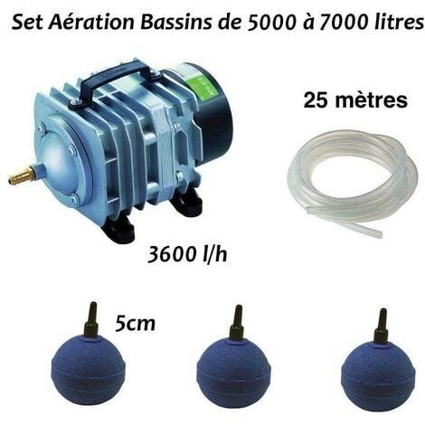 """main image of """"Set Aérateur Bulleur Bassin De Jardin De 5000, 6000 Et 7000l. Pompe à air bassin 3600 l/h"""""""