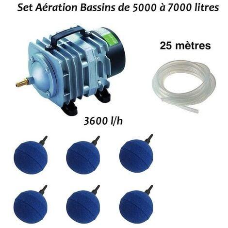 Set aération 6 boules bassin de 5000, 6000 et 7000 litres + aérateur