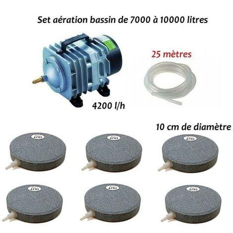 Set aération 6 disques bassin de jardin de 7000 à 10000 litres
