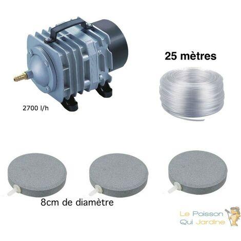 Set aération bassin 2700 l/h 3 disques 8 cm de 0 à 5000 litres