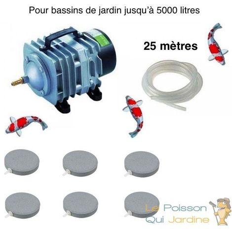Set aération bassin 2700 l/h 6 disques 8 cm de 0 à 5000 litres