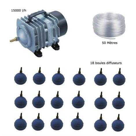 Set aération bassin de jardin 18 boules de 25000 à 30000 litres