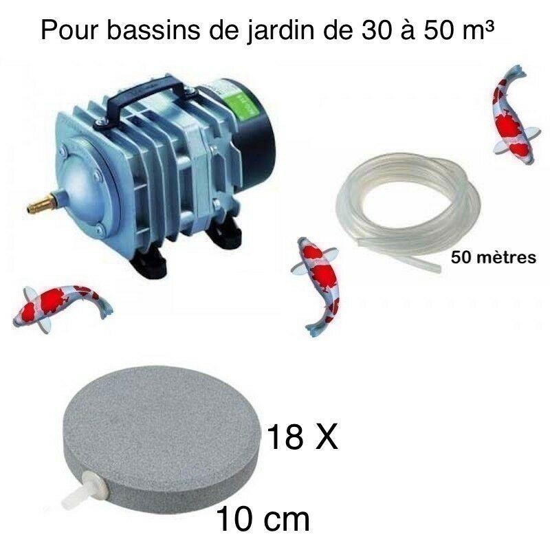 Set aération bassin de jardin 18 disques 10 cm de 30000 à 50000 litres