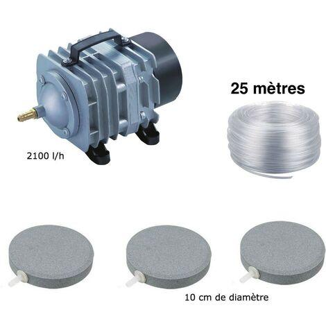 Set aération bassin de jardin 3 Disques 10 cm de 0 à 5000 litres