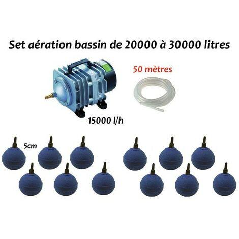 Set aération bassin de jardin de 20000 à 30000 litres