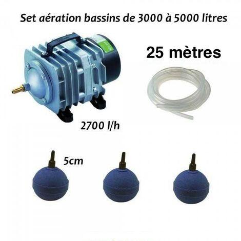 Set Aération Bassin de Jardin de 3000, 4000 et 5000 Litres