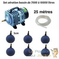 Set aération bassin de jardin de 7000 à 10000 litres