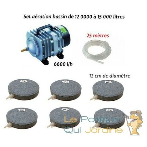 Set aération bassin de jardin N2 de 12000 à 15000 litres