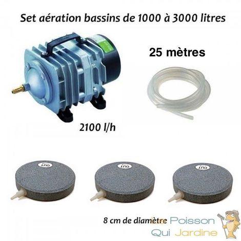 Set aération N2 bassin de jardin de 1000 à 3000 litres