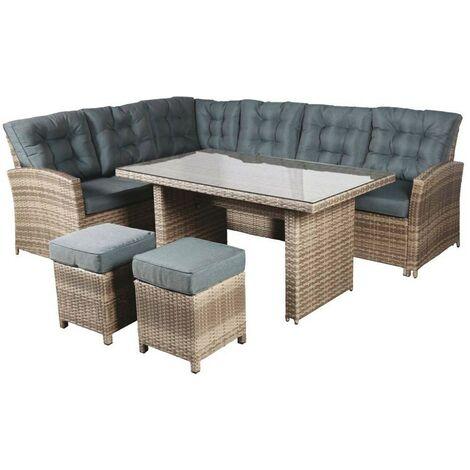 Set arredo completo tavolo divano sedie rattan imperial - Fraschetti