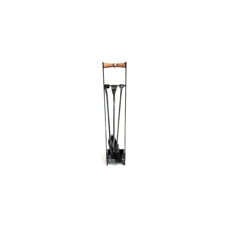 Cruccolini Set attrezzi da camino caminetto quadro cm15 x 14 x 75,5h accessori caminetto