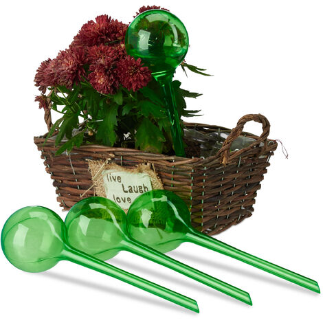 Set Autorriego para Macetas, Plástico, 4 Unidades, Verde