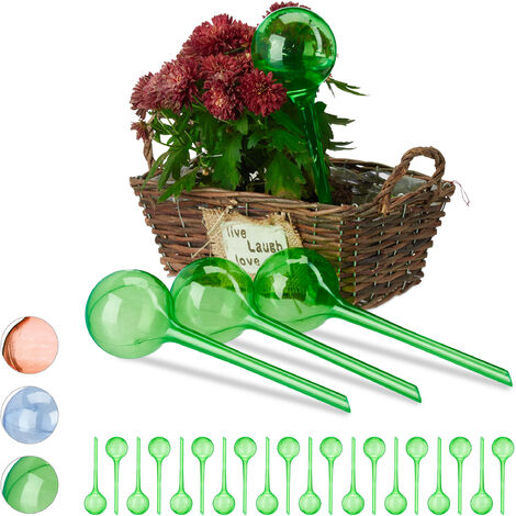Set Autorriego para Macetas, Plástico, Verde, 24 Unidades