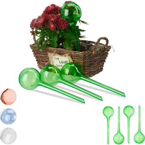 Set Autorriego para Macetas, Plástico, Verde, 8 Unidades
