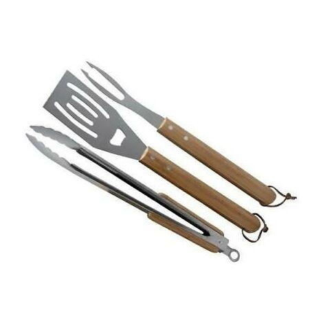 Set Barbecue prestigio 4 pezzi acciaio inox manico in bachelite