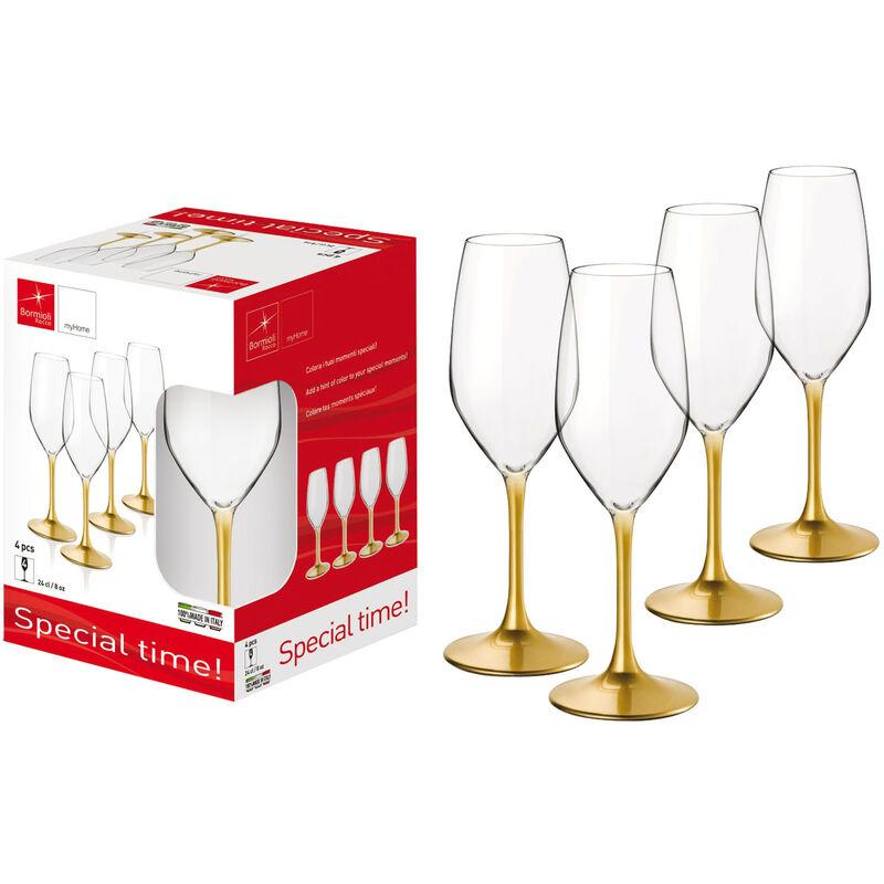 Image of Set Bicchieri 4 Flute 24 Cl. - BORMIOLI