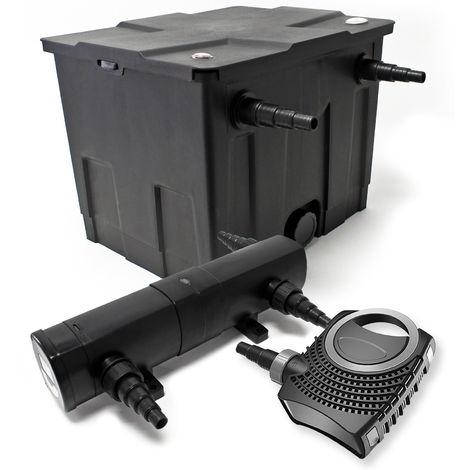 Set: Bio filtro para estanque 12.000l Super ECO 80W Bomba 36W UVC clarificador