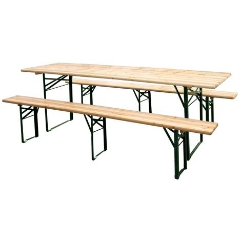 Panche E Tavoli Per Sagre.Set Birreria In Legno Tavolo E 2 Panche Pieghevole 216x70h76 Cm
