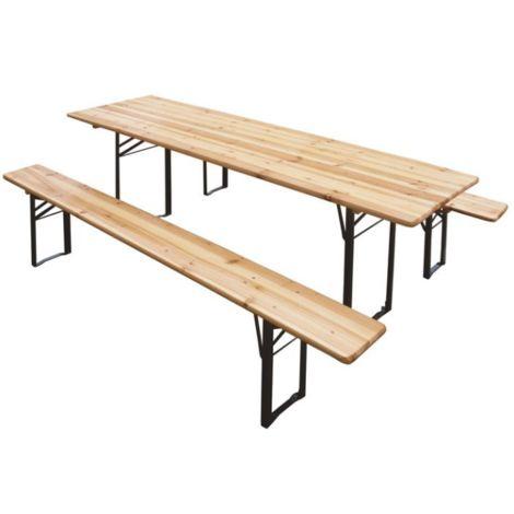 Set birreria pieghevole 220x70 cm in legno | Legno
