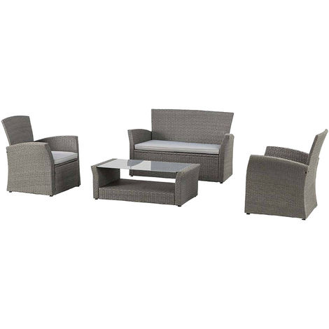 Set bora bora sofa dos sillas y mesa gris