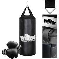 Set boxing Saco boxeo 9kg 62cm Sujeción Guantes Saco arena Deporte Fitness Forma Workout Ejercicio