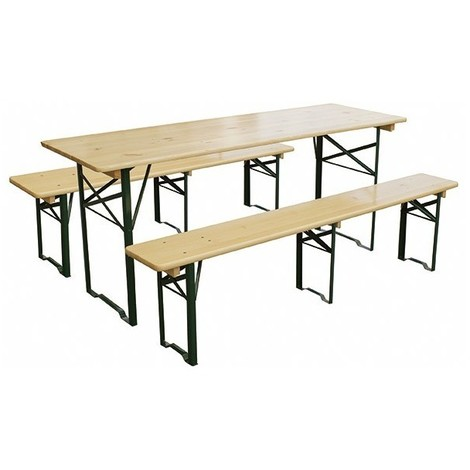 Set Brasseur Larg 80cm 1 Table 2 Bancs Ref389073 Cf 6553239