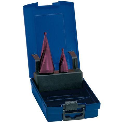 Set Broca escalonada HSS, (broca avellanadora) revestimiento TiAIN, capacidad de perforación : 5-20/5-31 mm