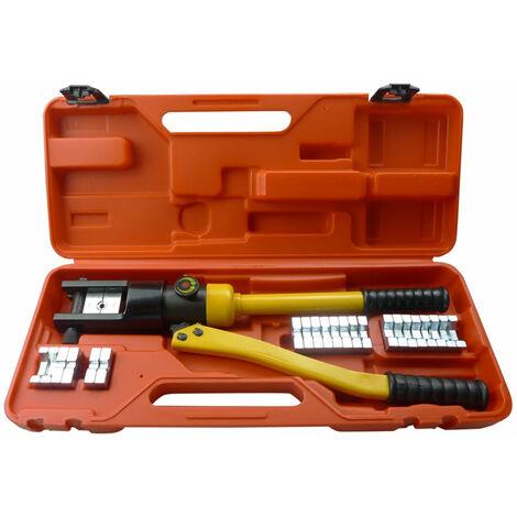 Set coffret de presse à sertir de sertissage hydraulique outils garage atelier bricolage