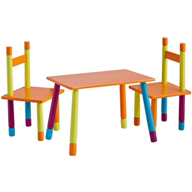 Tavoli E Sedie In Plastica Per Bambini.Set Color Bambini Con Tavolo E 2 Sedie In Mdf 4003368134550