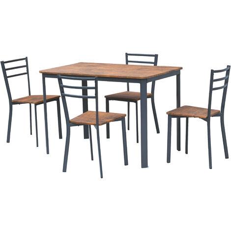 Set completo da pranzo cucina tavolo con 4 posti sedie in ...