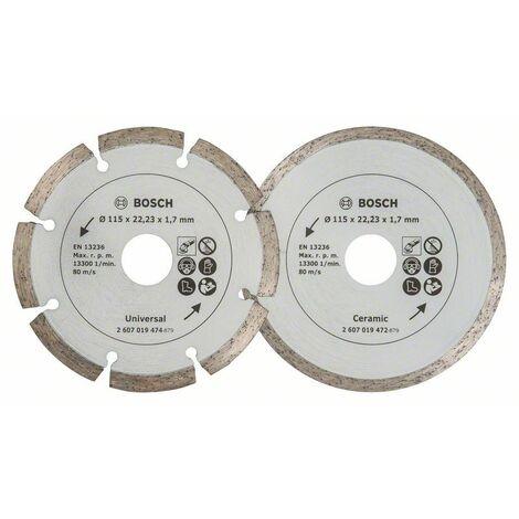 Set Con Dos Discos De Diamante De 115mm