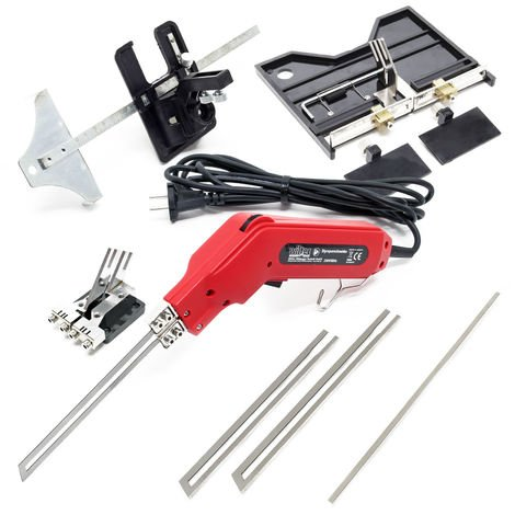 Set cortadora térmica de poliestireno 7 piezas 200W, con ranurador, guía de corte y cuchillas